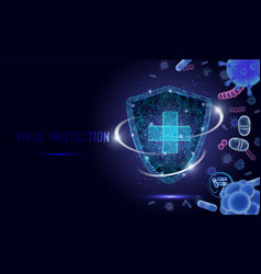 Virus protection web banner website page vector