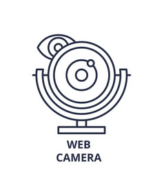 web camera line icon concept web camera vector image