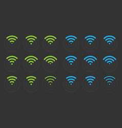 wifi icons set wireless signs vector image