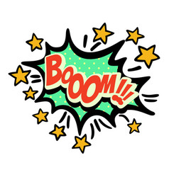 Word text star boom image vector