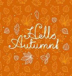 Different leaves silhouettes autumn concept vector image vector image