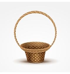 Empty Wicker Basket Isolated vector image