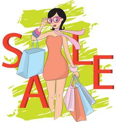 Fashion shopping vector image