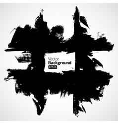 Grunge black background vector image