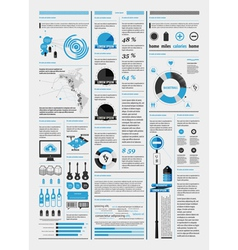 infographics with a map vector image vector image