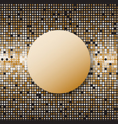 circle halftone gold dots abstract background vector image