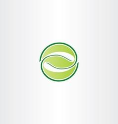 eco green circle leaf letter z symbol logo icon vector image