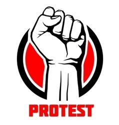 Protest rebel revolution art poster vector image