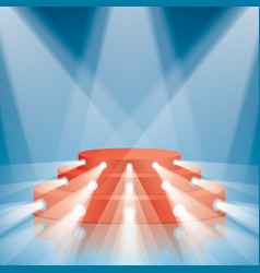 Red concert scene with projector lighting vector