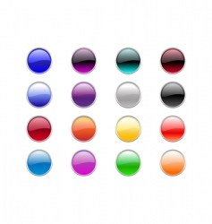 round buttons vector image
