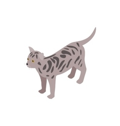 Bengal cat icon isometric 3d style vector image
