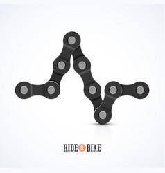 bike chain ecg symbol - ride a bike poster vector image vector image