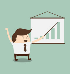 chart of profit vector image vector image