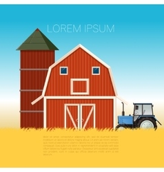 Farm banner with tractor vector
