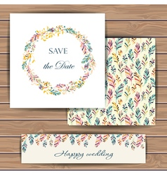 Save the date card with feather vector image vector image
