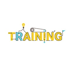 Training word lettering design vector image vector image