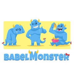 Babel Monster vector image vector image
