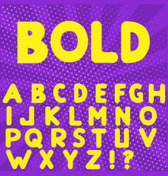 bold hand drawn alphabet vector image vector image