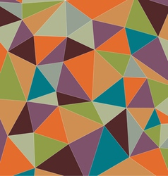 Colorful vintage triangle vector image