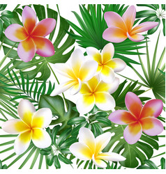 seamless exotic pattern with tropical plants big vector image vector image