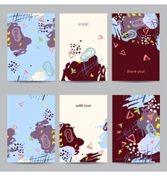 Set of abstract colorful brochure templates vector image vector image