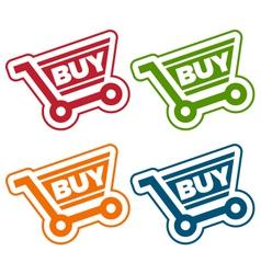 Shopping Cart Tags vector image