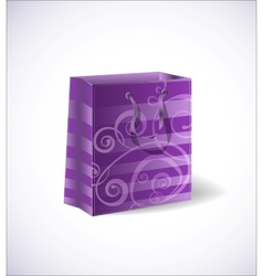 violet shopping bag vector image
