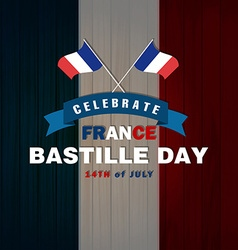 14th July Bastille Day of France vector