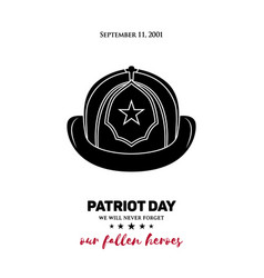 911 patriot day a fireman vector image