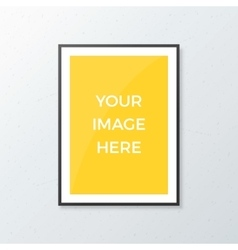 A4 Poster Mockup vector image