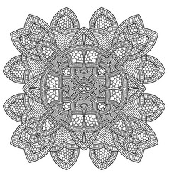 abstract round ornament circle mandala pattern vector image