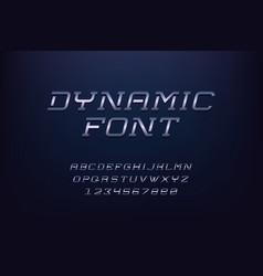 alphabet minimalist typeface capital letters vector image