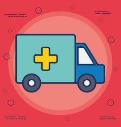 ambulance vehicle ico vector image