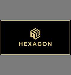 Ap hexagon logo vector