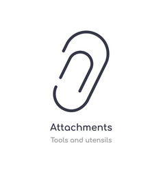 attachments outline icon isolated line from tools vector image