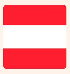 Austria square flag button social media vector