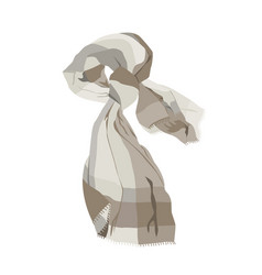 Beige scarf isolated on white vector