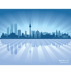 Berlin Germany city skyline silhouette vector