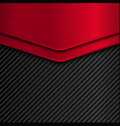 Black and red metallic background vector image
