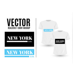 black and white new york usa graphic fashion label vector image