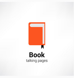 book logo talking pages vector image