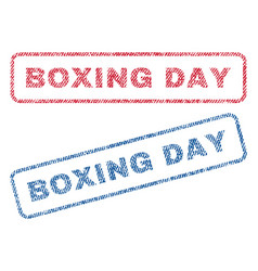 Boxing day textile stamps vector