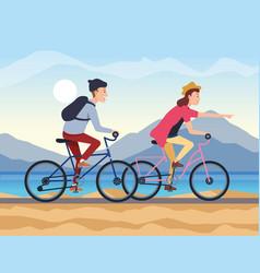 Boys reading bikes design vector
