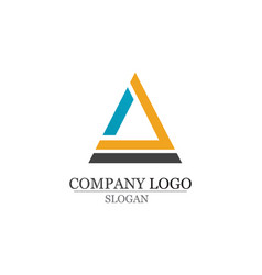 business abstract logo design template app vector image
