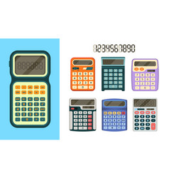 calculators flat icon education tools collection vector image