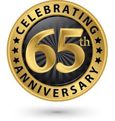 Celebrating 60th anniversary gold label vector