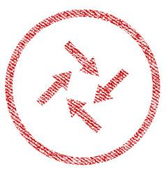 Centripetal arrows fabric textured icon vector