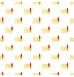 Checkbook pattern cartoon style vector image vector image