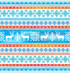 christmas ornamental pattern vector image