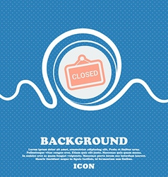 close sign icon Blue and white abstract background vector image
